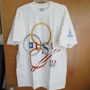 Vtg Hanes USA Olympics-100 Yrs U.S. Olympic Teams